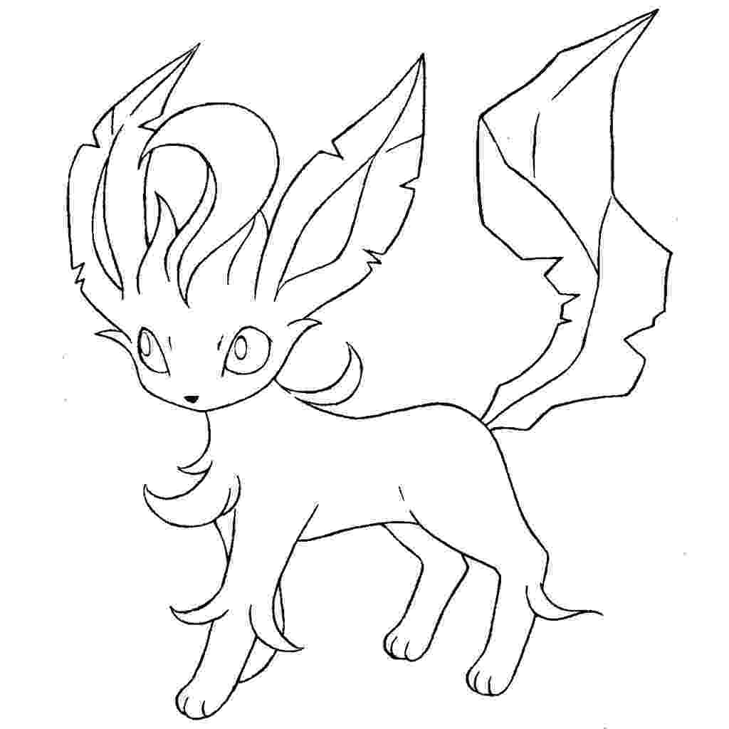 pokemon coloring pages eevee evolutions leafeon lineart by skylight1989 on deviantart 7481 leafeon coloring eevee pages evolutions pokemon