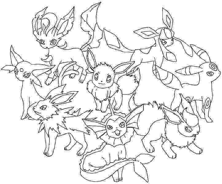 pokemon coloring pages eevee evolutions pokemon coloring pages free download coloring evolutions pages pokemon eevee