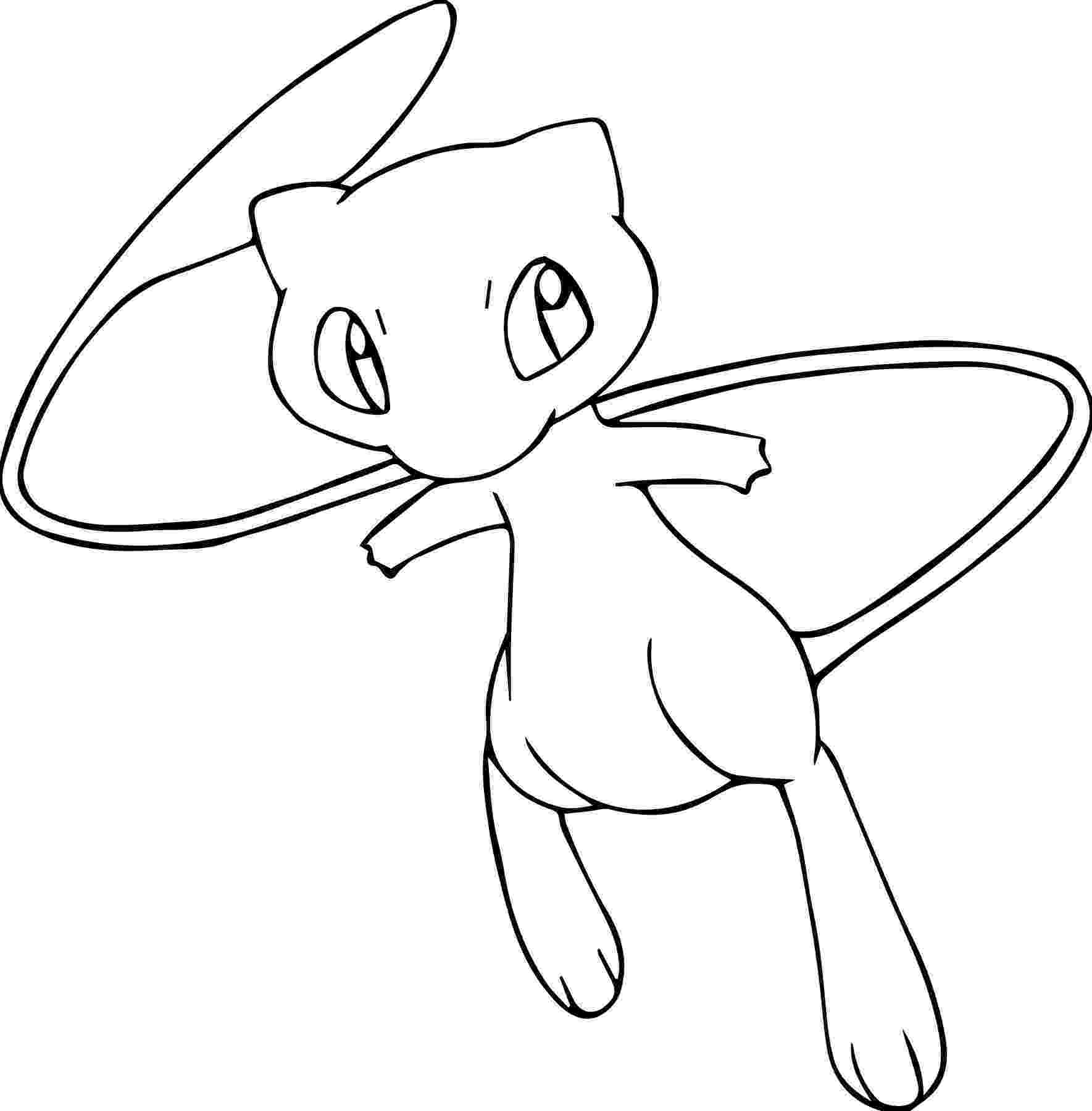 pokemon coloring pages legendary mew pokemon drawing mew at getdrawingscom free for personal pages legendary pokemon mew coloring