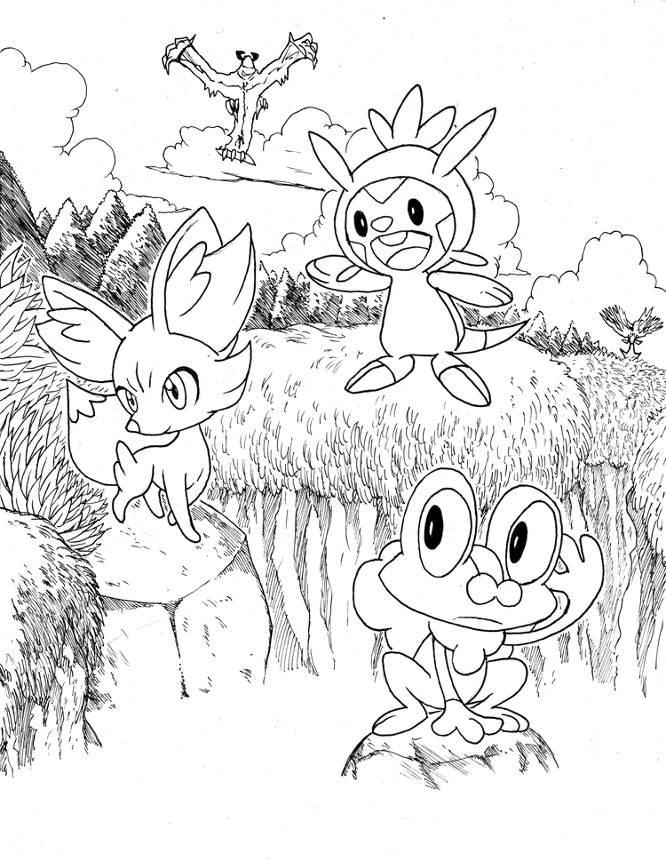 pokemon x and y coloring book coloring page pokemon x y 1 pokemon book coloring y and x