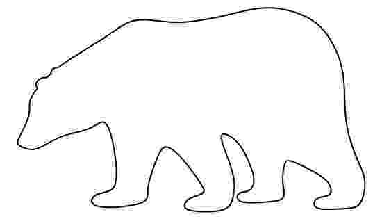 polar bear template free printable polar bear coloring pages for kids bear polar template