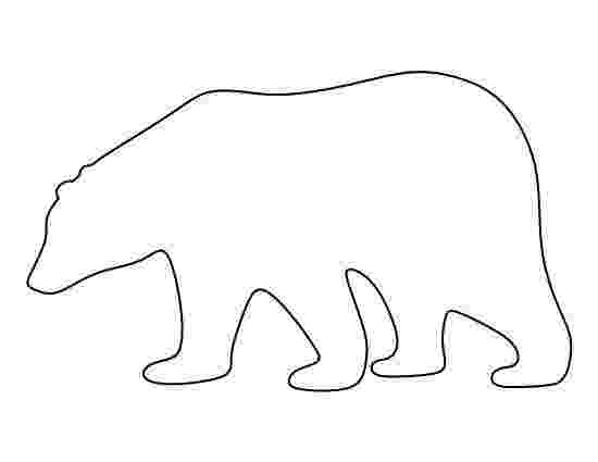polar bear template fun learning printables for kids bear template polar