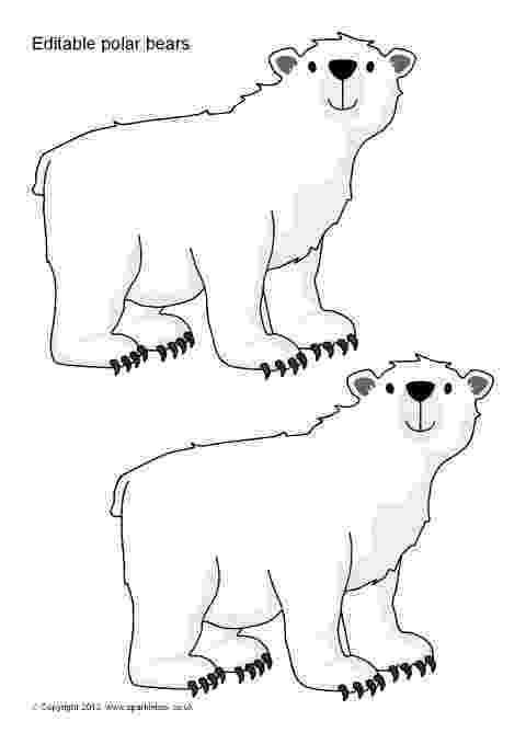 polar bear template image result for polar bear stencil polar bears template bear polar