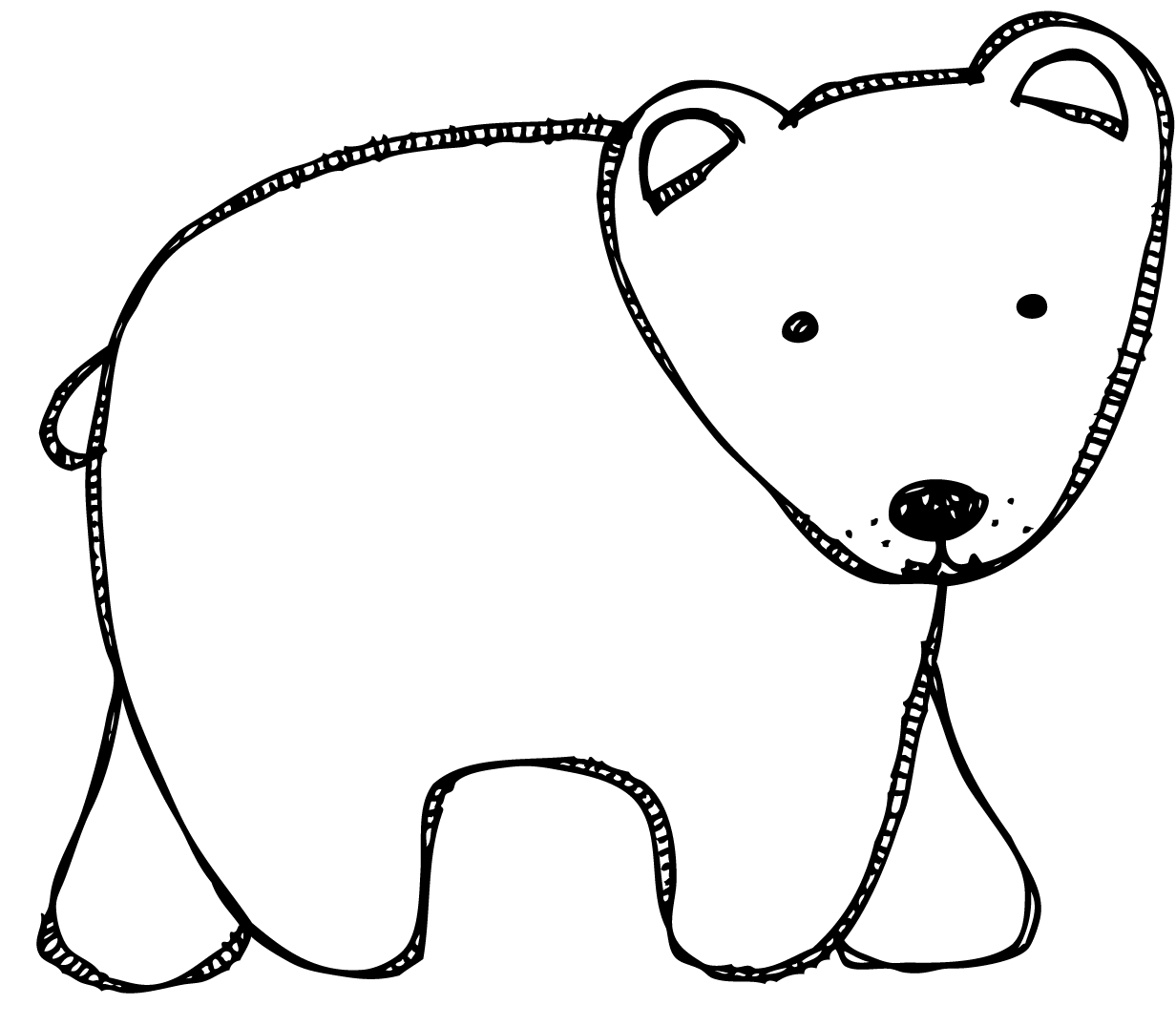 polar bear template polar bear pattern use the printable pattern for crafts bear template polar