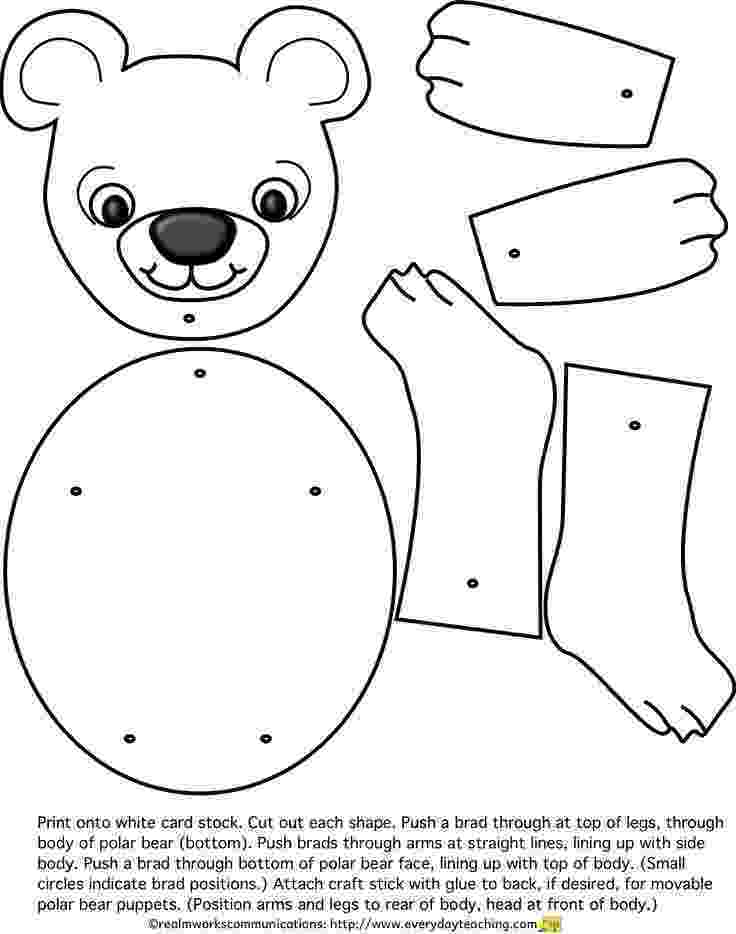 polar bear template polar bear template template polar bear