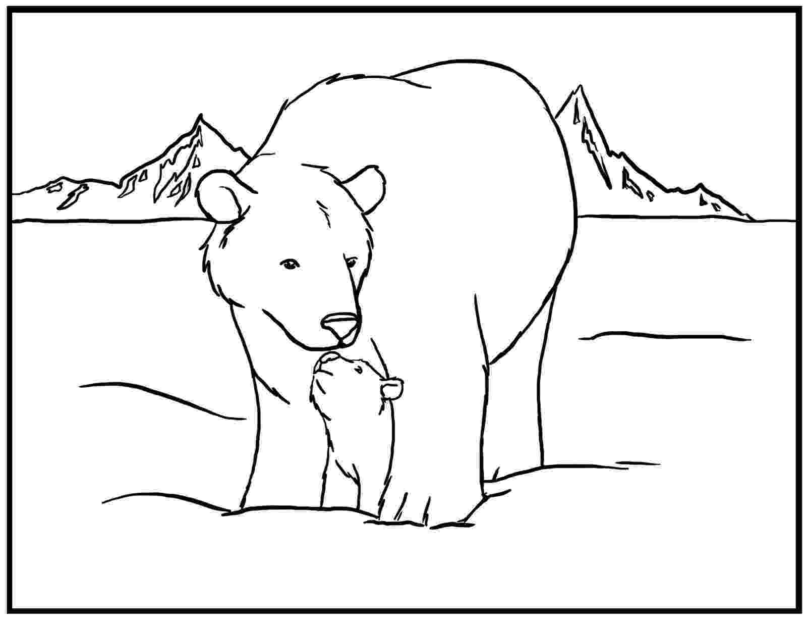 polar bear to color items similar to polar bears printable coloring page color to polar bear