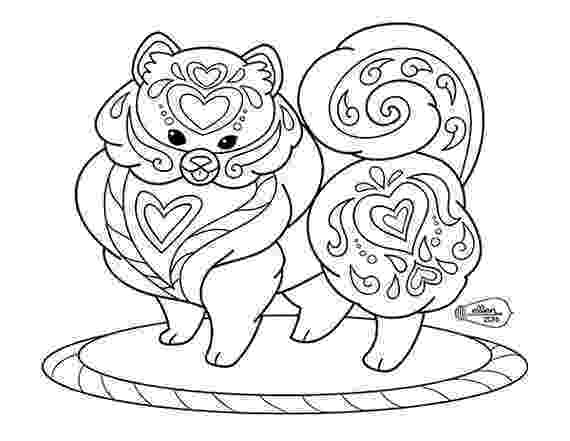 pom pom coloring pages cute decorated pomeranian adult coloring page digital stamp pages pom pom coloring