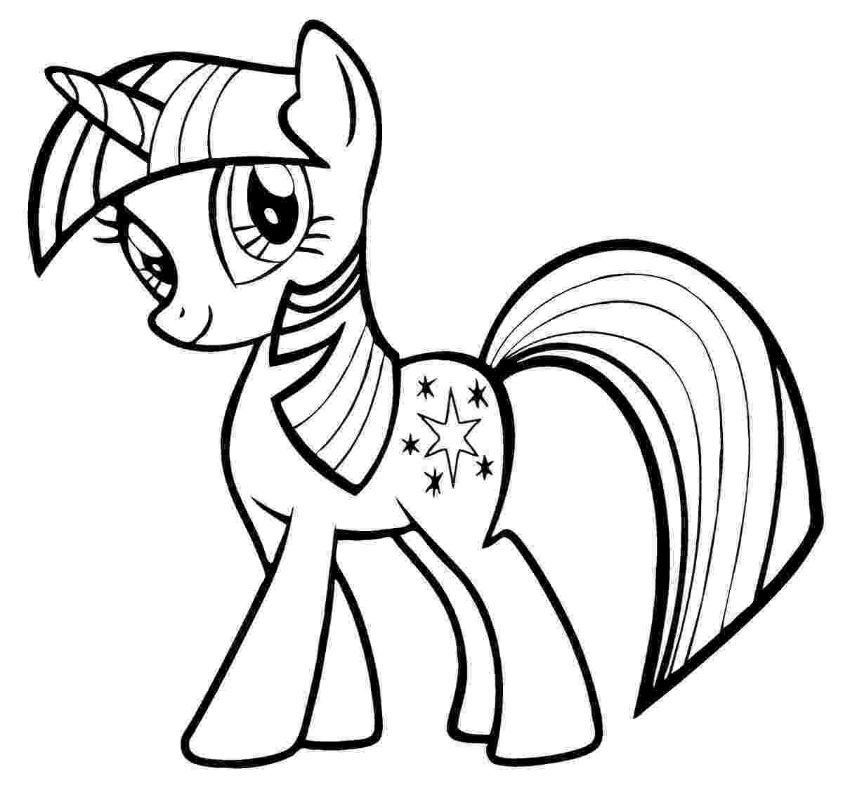 pony picture to color free printable my little pony coloring pages for kids color pony to picture