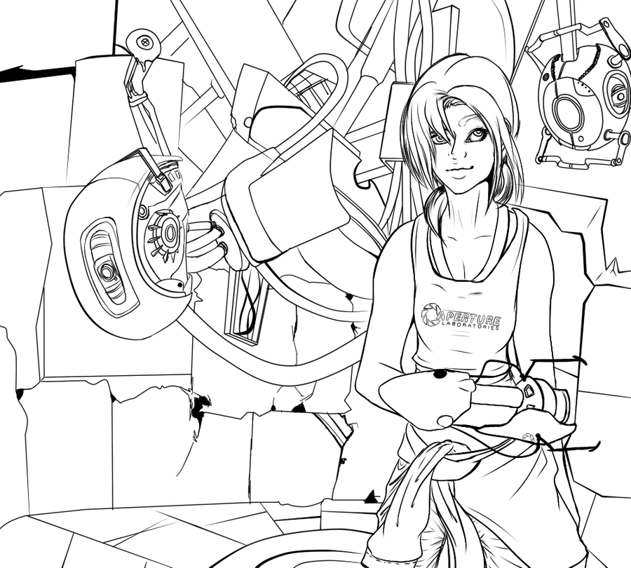 portal 2 coloring pictures portal 2 free coloring pages pictures portal coloring 2