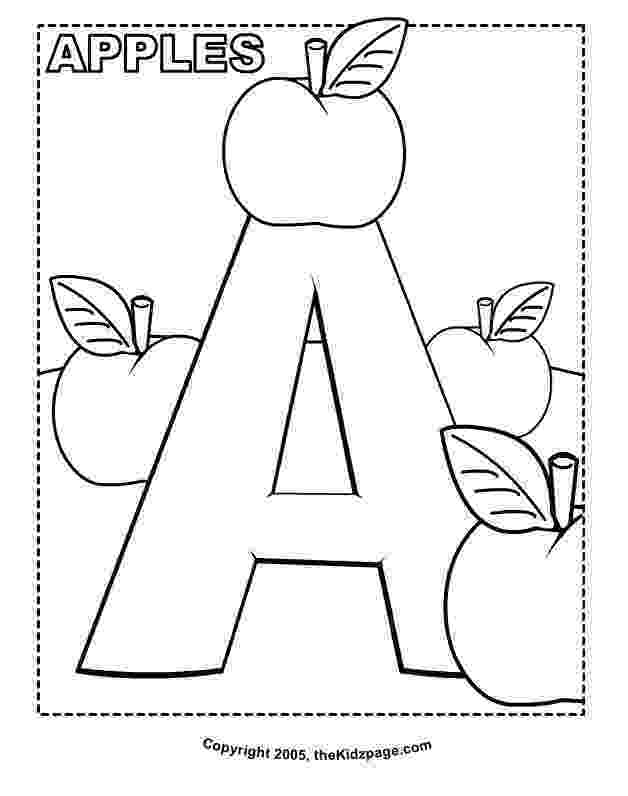 preschool apple coloring pages a is for apple printable tim39s printables pages coloring apple preschool