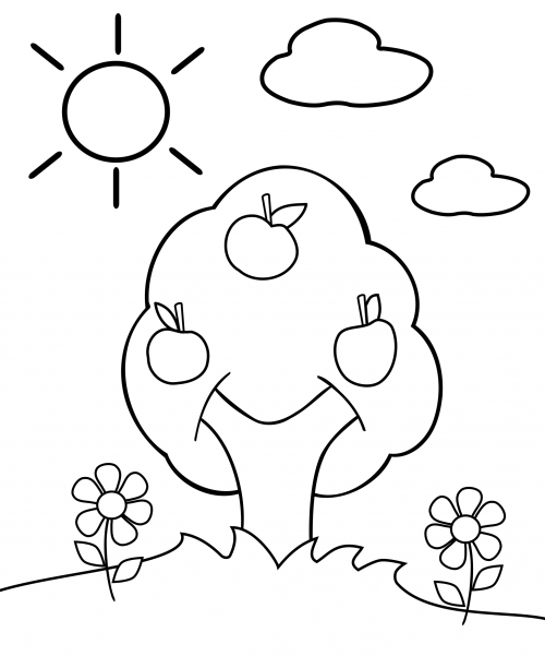 preschool apple coloring pages fruit coloring pages and printables crafts and coloring preschool apple pages