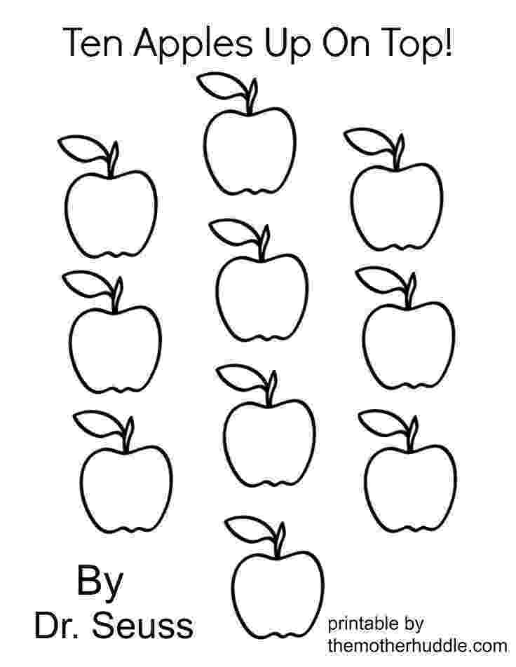 preschool apple coloring pages ten apples up on top dr seuss coloring page az coloring apple preschool coloring pages
