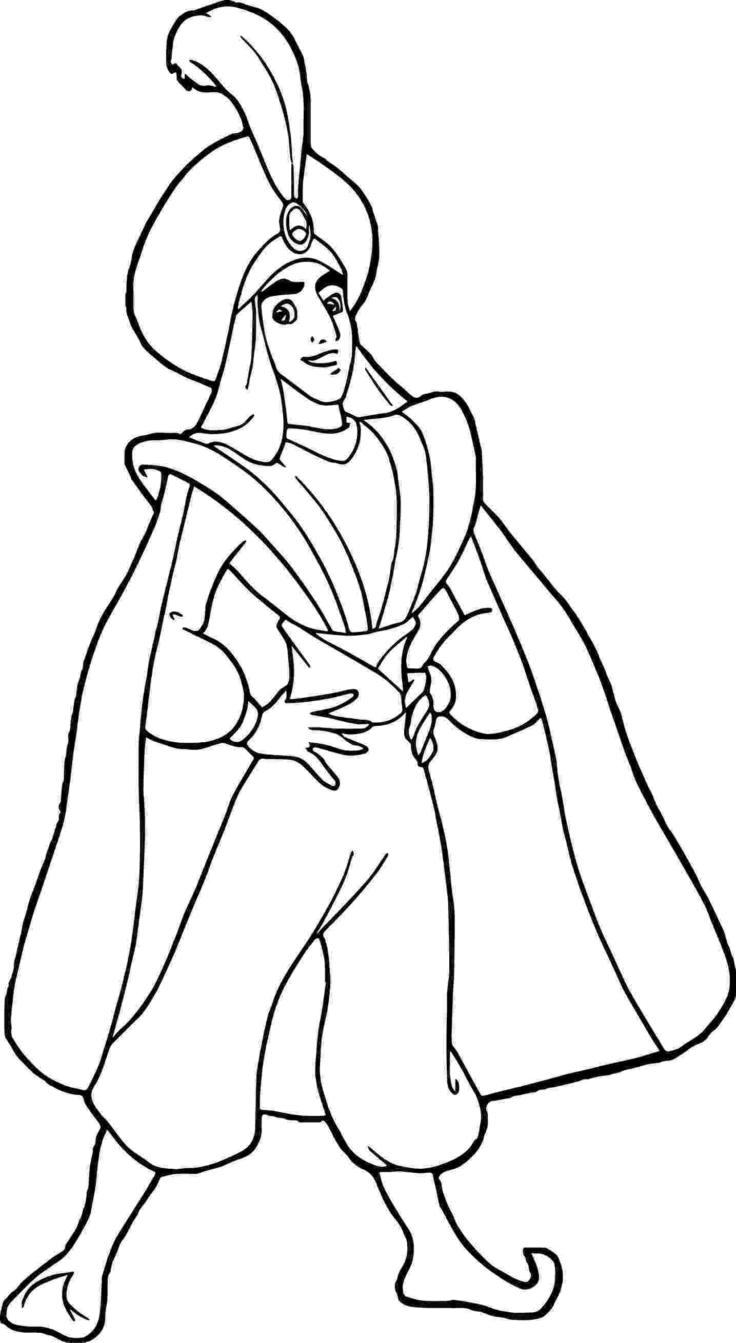 prince colouring cool prince ali aladdin coloring page cartoon coloring prince colouring