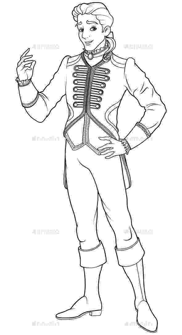 prince colouring prince charming coloring page by dazdraperma graphicriver colouring prince