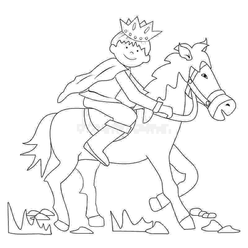 prince colouring prince coloring stock vector illustration of equestrian colouring prince