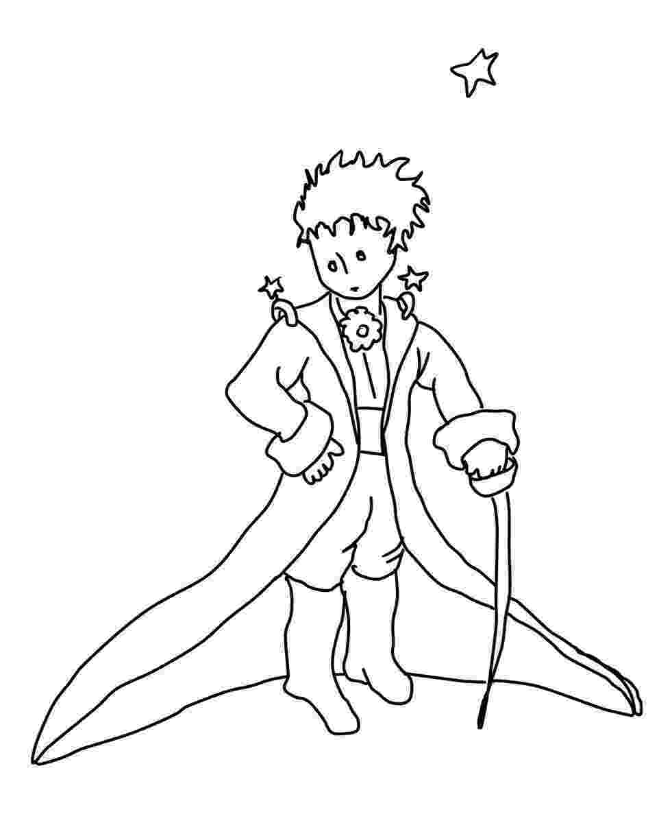prince colouring the little prince coloring pages colouring prince