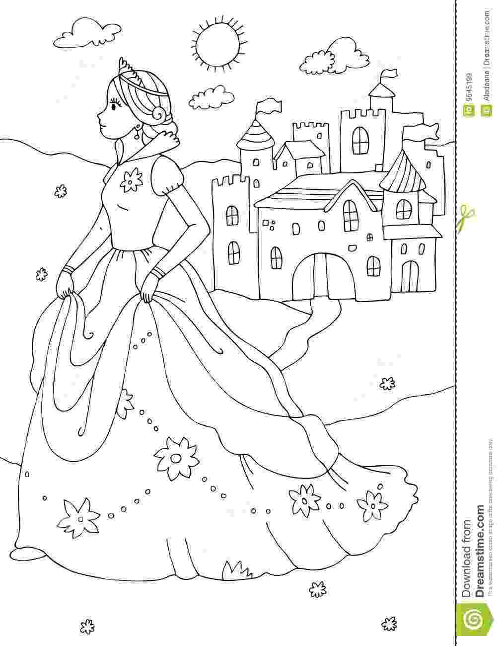 princess and castle coloring pages disney princess castle coloring pages to kids pages princess and coloring castle