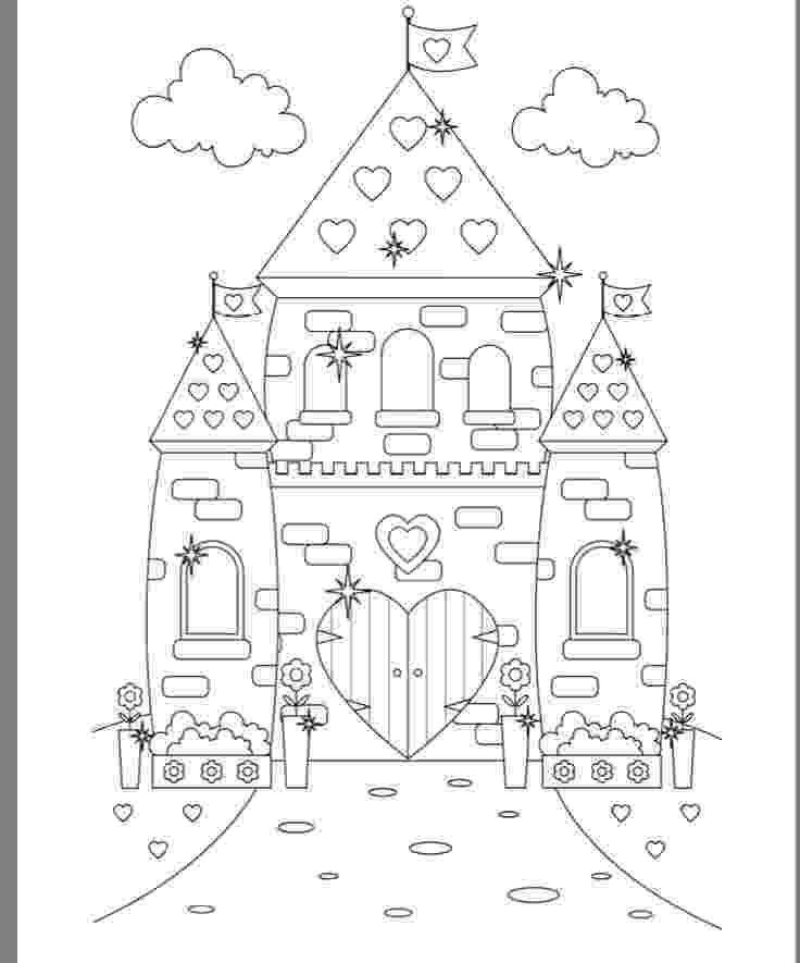 princess castle coloring pages princess chloe and her castle coloring pages hellokidscom princess coloring pages castle