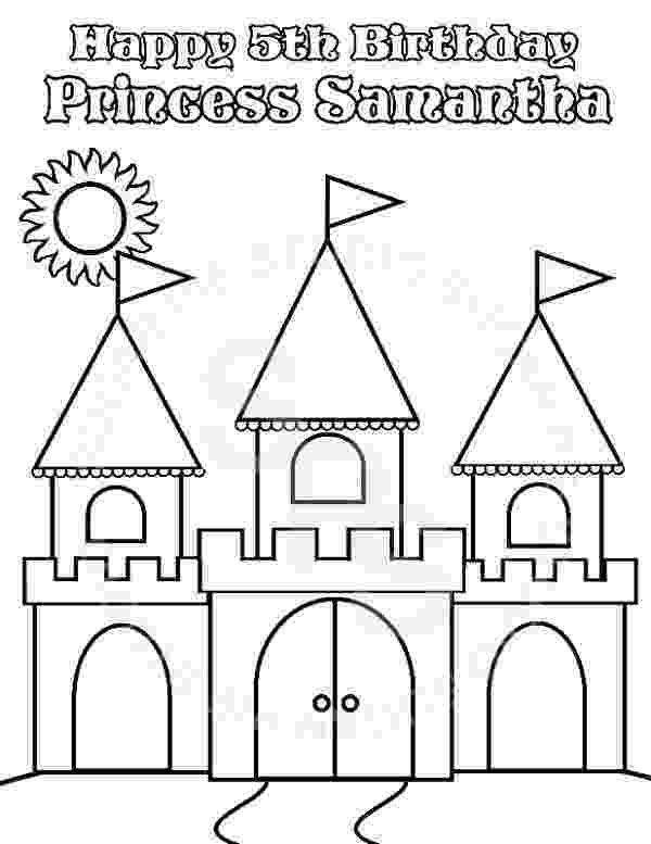 princess castle printable personalized printable princess castle birthday party favor castle princess printable