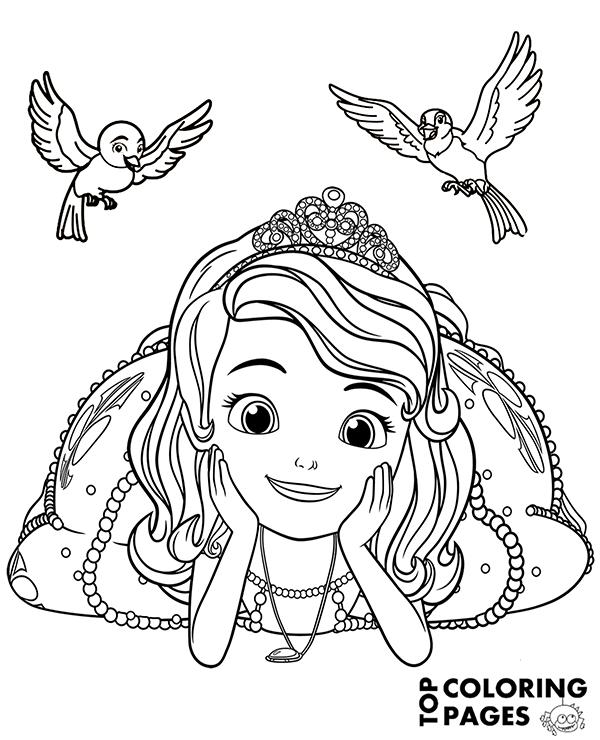 princess sofia colouring princess sofia and princess amber coloring page free princess colouring sofia