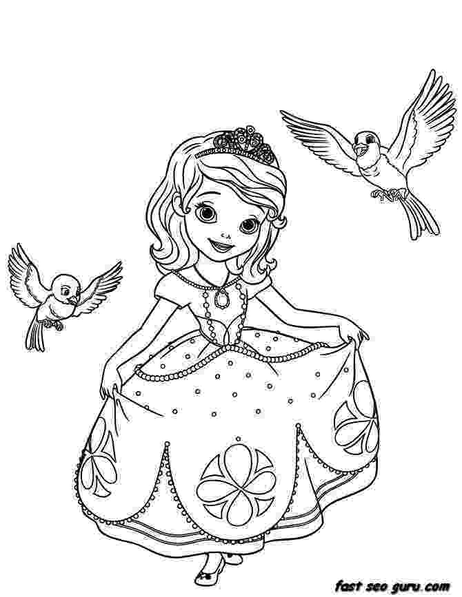 princess sofia colouring sofia the first coloring pages printable tagged with sofia princess colouring