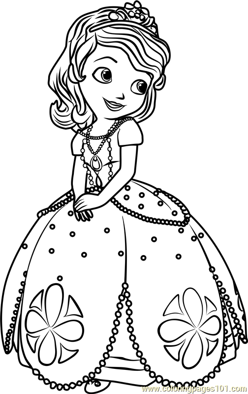 princess sofia colouring zallie coloring pages sofia the first coloring page colouring sofia princess