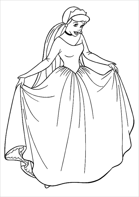 princess templates to color 20 princess coloring pages vector eps jpg free color to templates princess