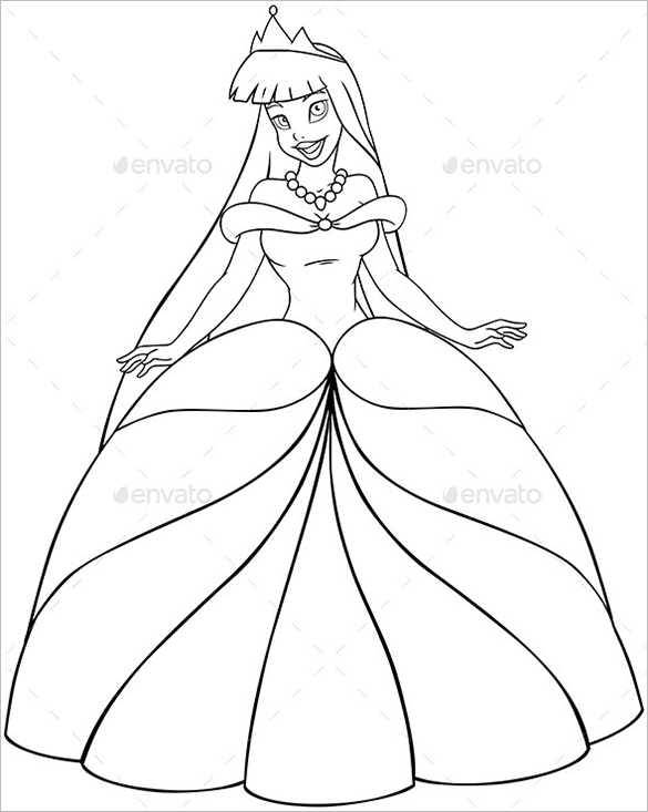 princess templates to color 20 princess coloring pages vector eps jpg free to templates princess color