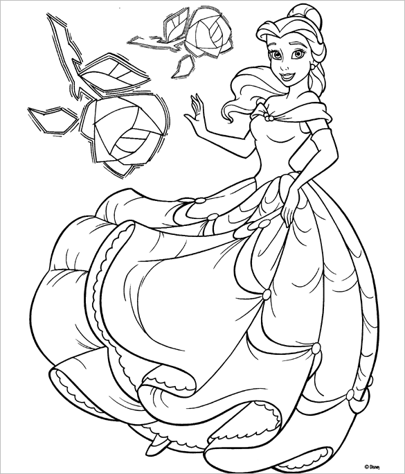 princess templates to color princess belle coloring pages to download and print for free princess to color templates