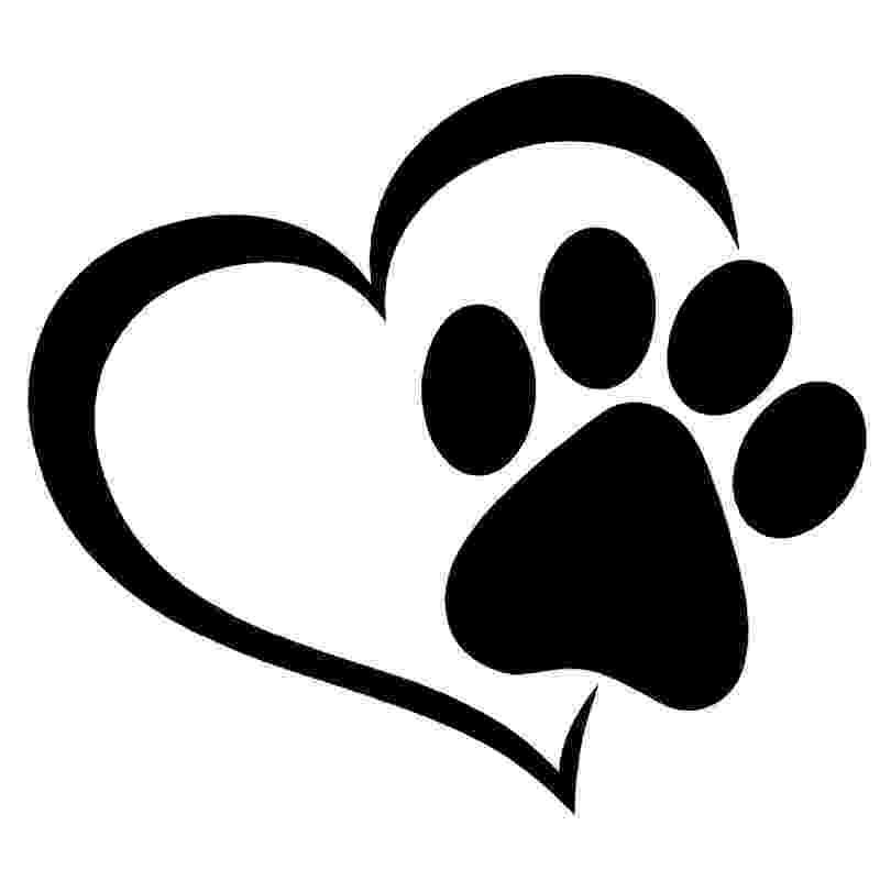 print a dog 2x cat dog animal paw paws print heart vinyl car decal a dog print