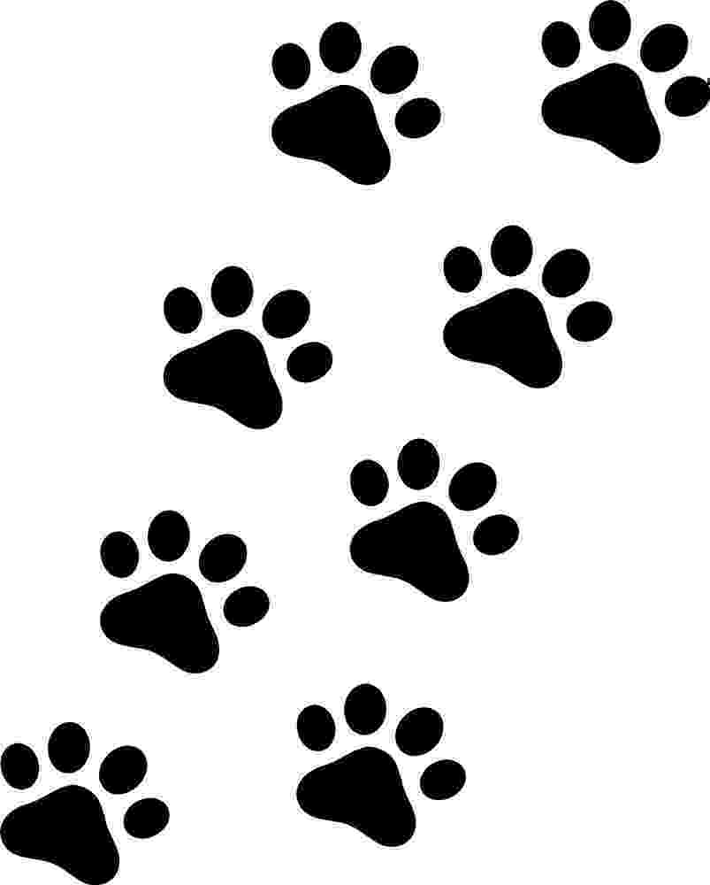 print a dog 8 x paw print stickerdecals catdogcarvanfloor ebay a print dog