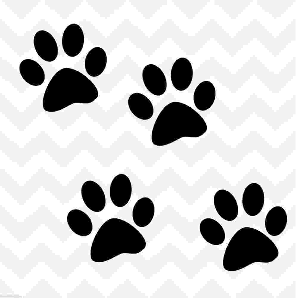 print a dog picture of cat paw print clipart best dog print a