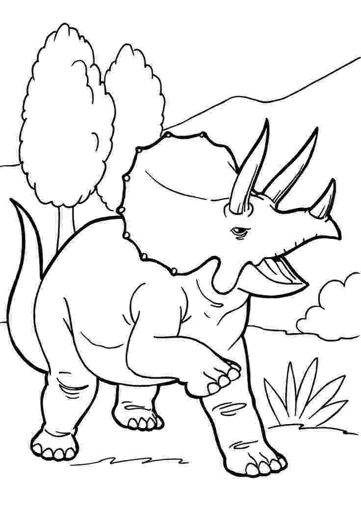 print dinosaur pictures angry triceratops dinosaur coloring pages for kids dinosaur print pictures