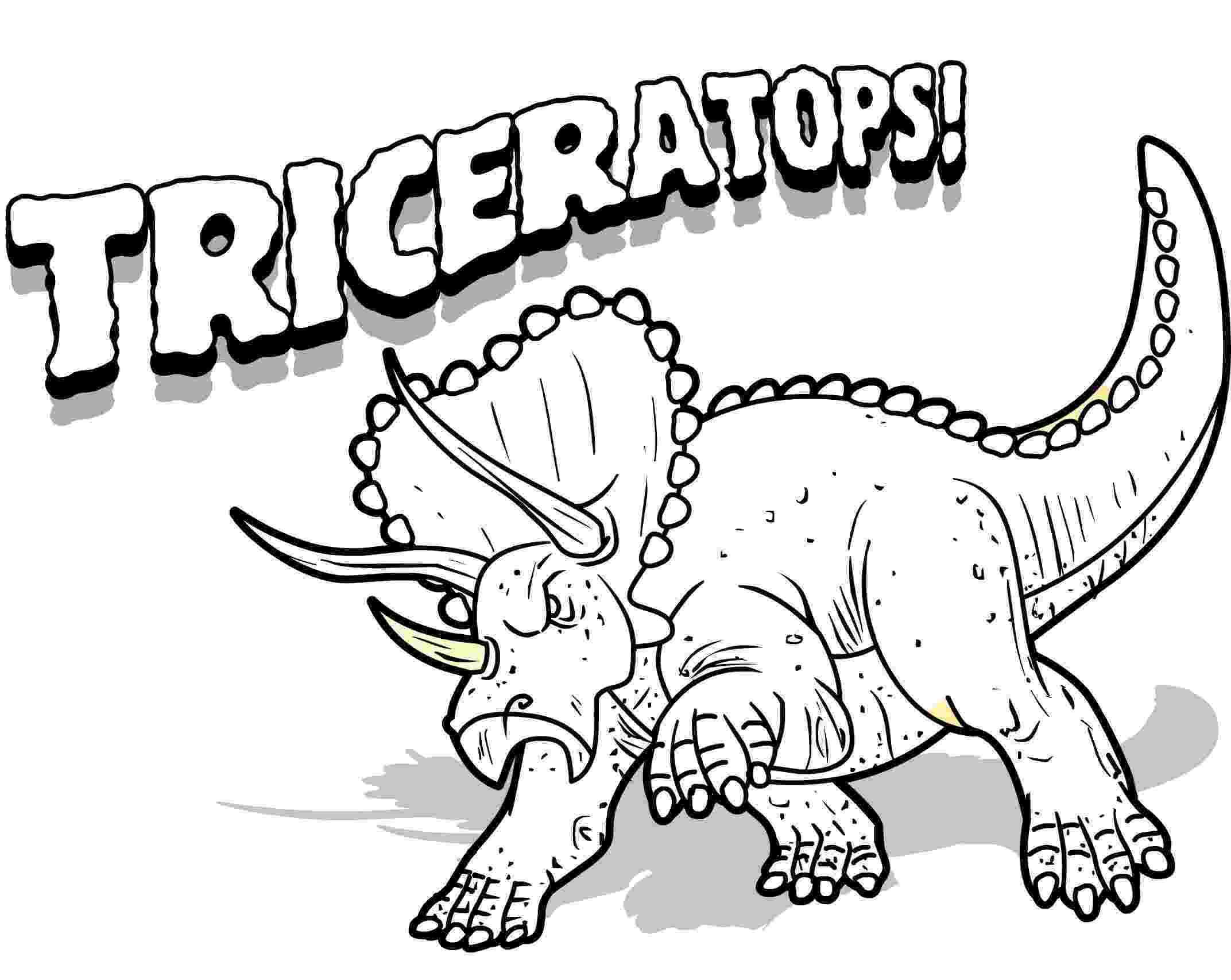 print dinosaur pictures free printable triceratops coloring pages for kids dinosaur print pictures