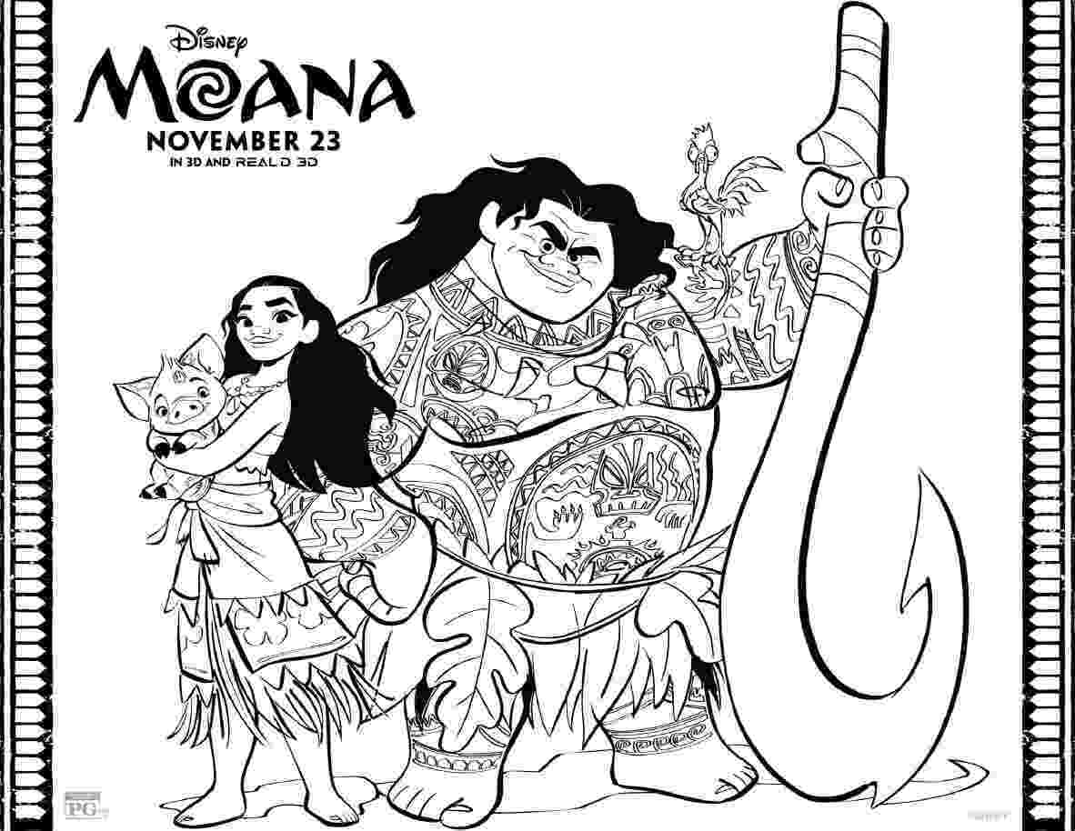 print moana coloring pages exclusive free disney moana coloring printable the pages print coloring moana