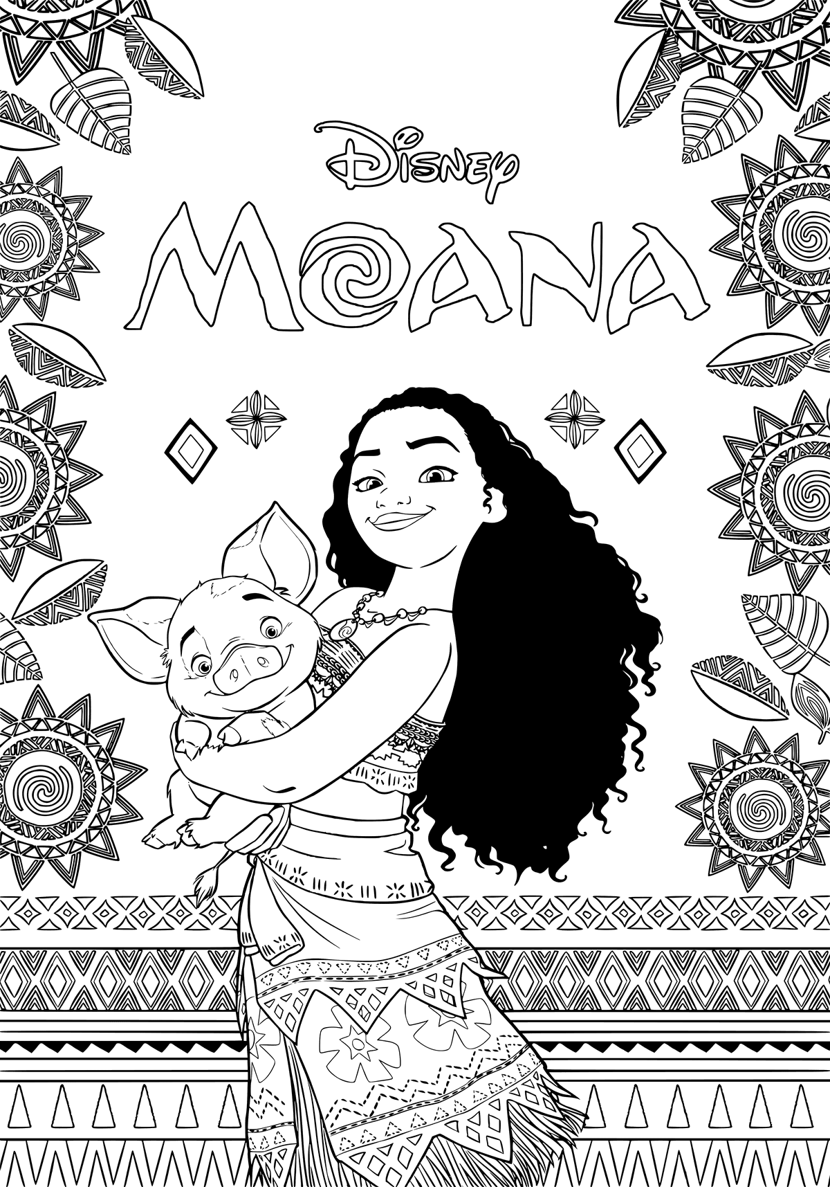 print moana coloring pages princess moana coloring page free printable coloring pages print pages moana coloring