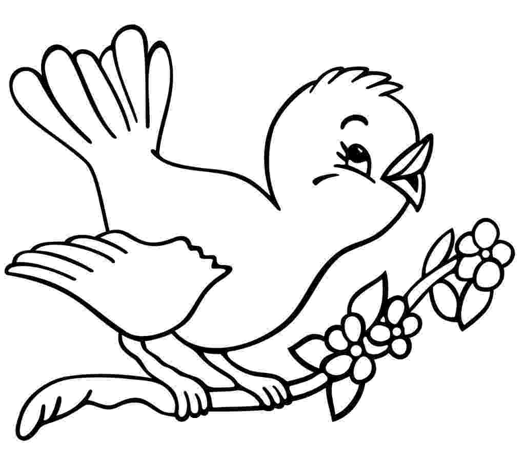 printable bird coloring pages christmas tree with birds coloring page beauty bird bird coloring pages printable
