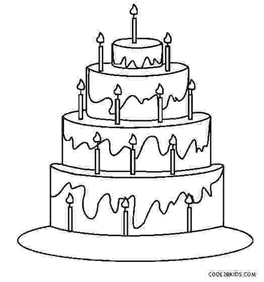 printable birthday cake images birthday cake coloring pages getcoloringpagescom cake printable images birthday