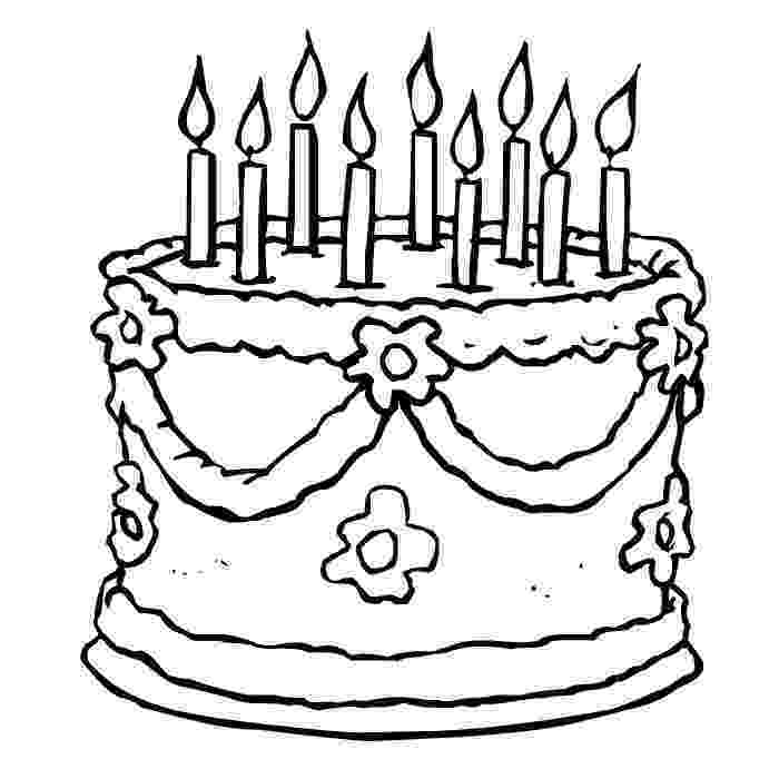 printable birthday cake images free printable birthday cake coloring pages for kids birthday images cake printable