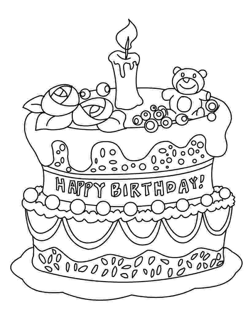 printable birthday cake images free printable birthday cake coloring pages for kids cake birthday images printable 1 1