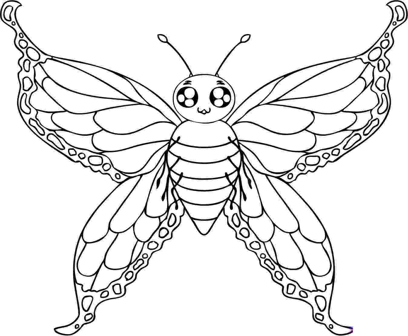 printable butterfly coloring page free printable butterfly coloring pages for kids printable coloring butterfly page 1 1