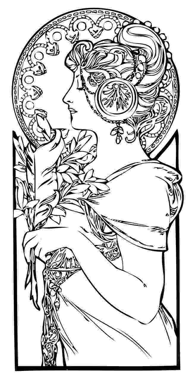printable coloring art pages art nouveau coloring pages to download and print for free art pages coloring printable