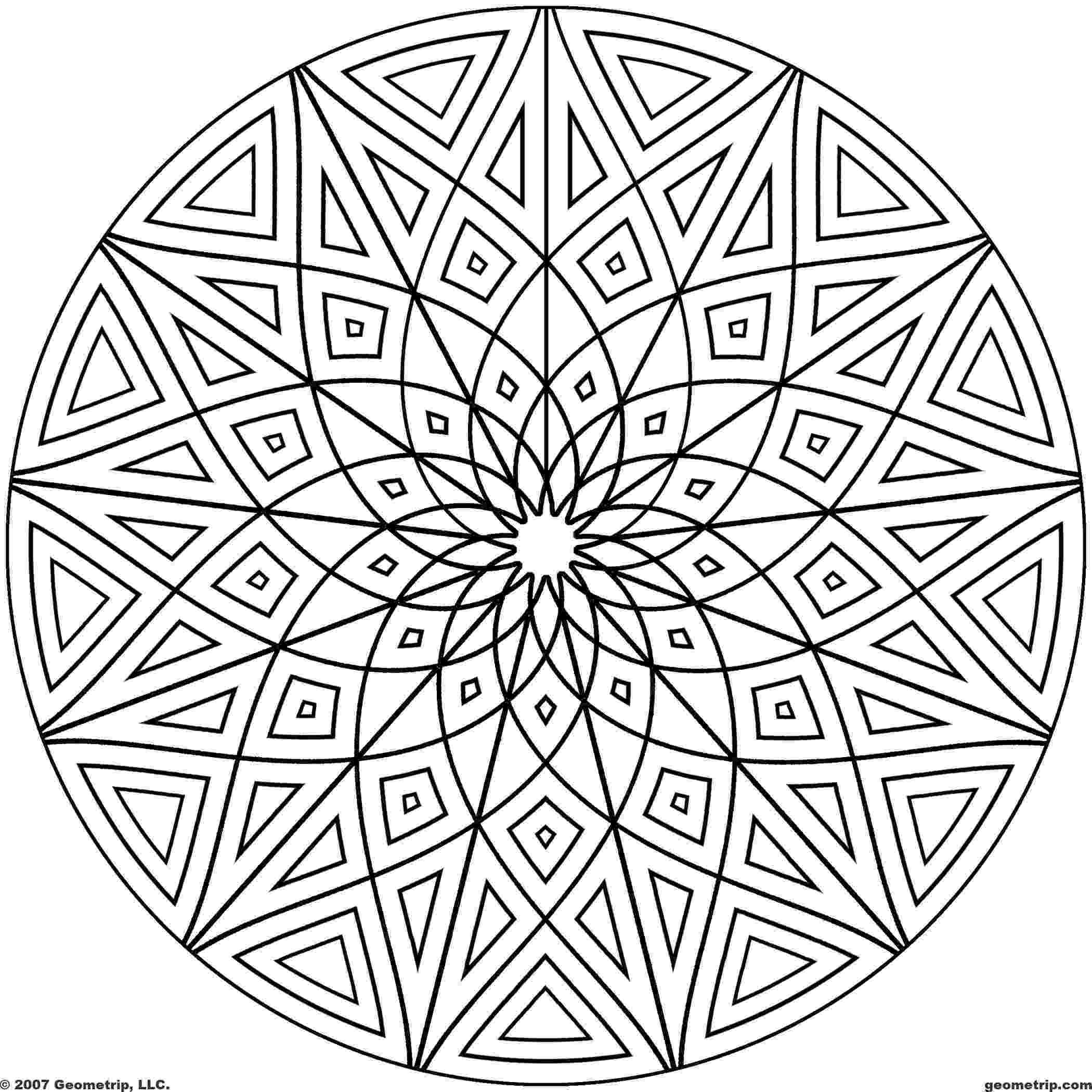 printable coloring designs free printable geometric coloring pages for kids designs printable coloring