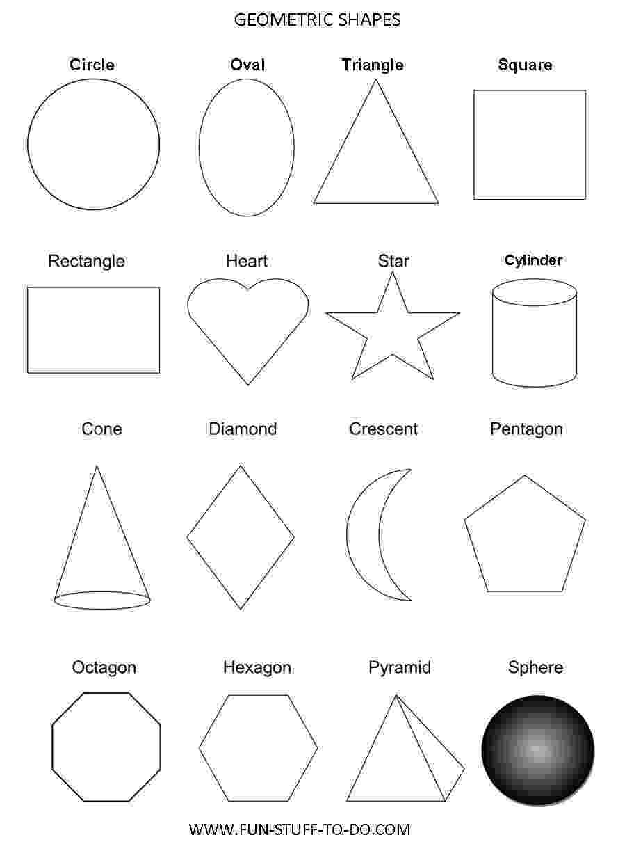 printable coloring geometric shapes geometric shapes worksheets free to print printable geometric coloring shapes