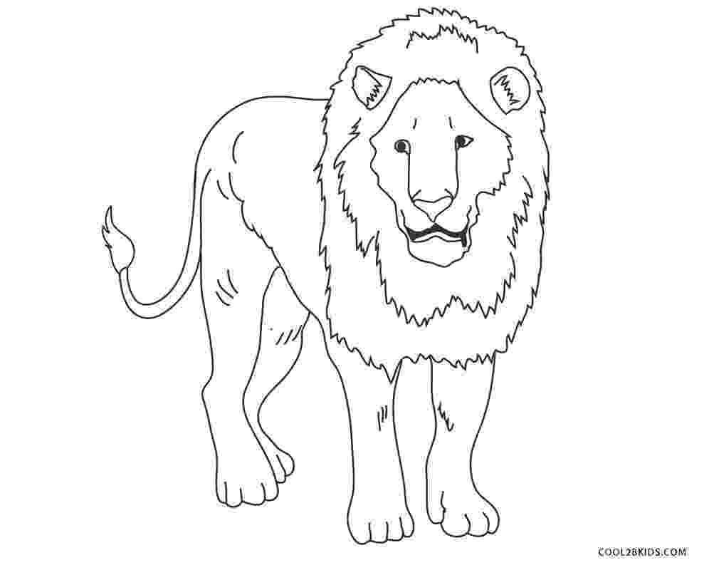 printable coloring pages lion standing lion coloring page free printable coloring pages pages lion printable coloring