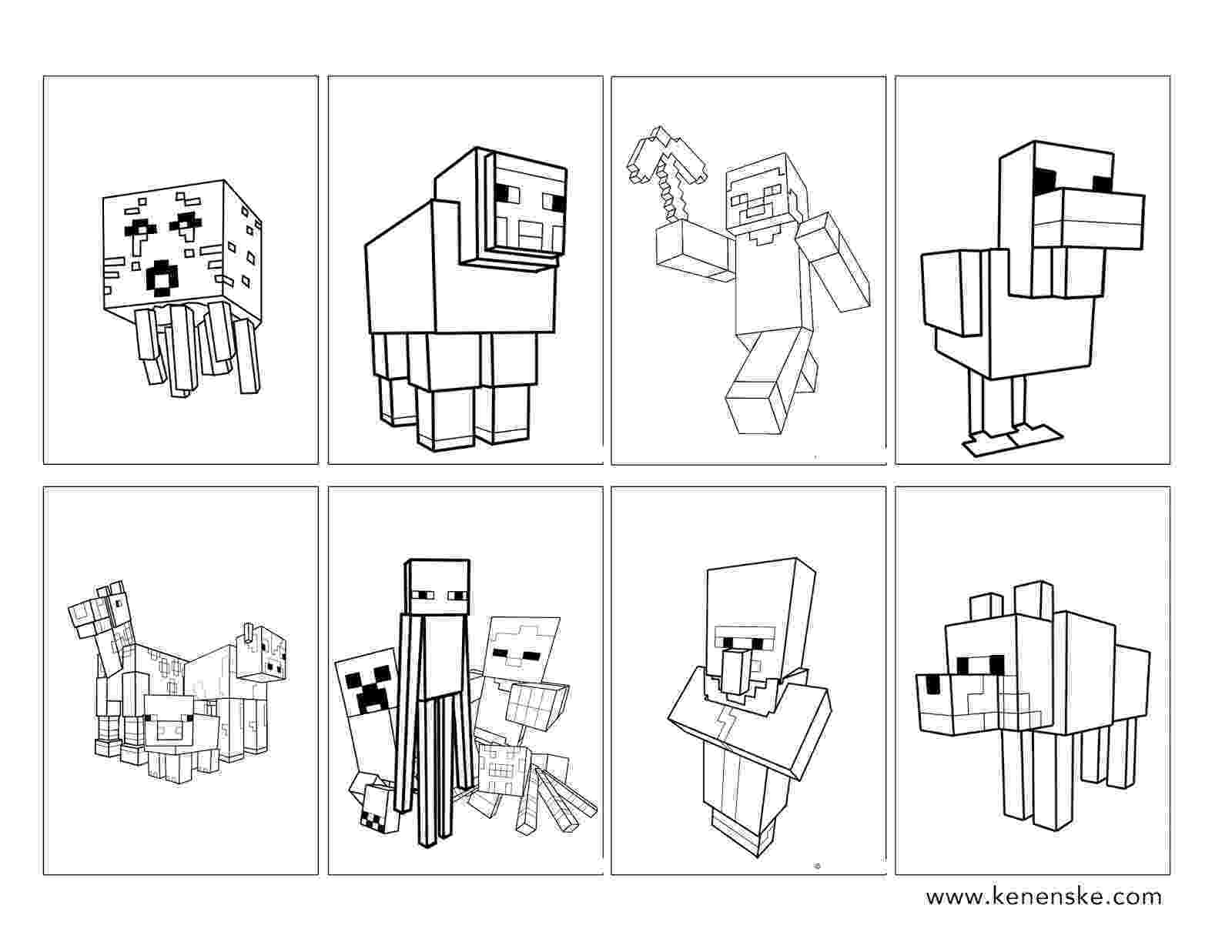 printable coloring pages minecraft minecraft coloring pages to download and print for free pages printable coloring minecraft