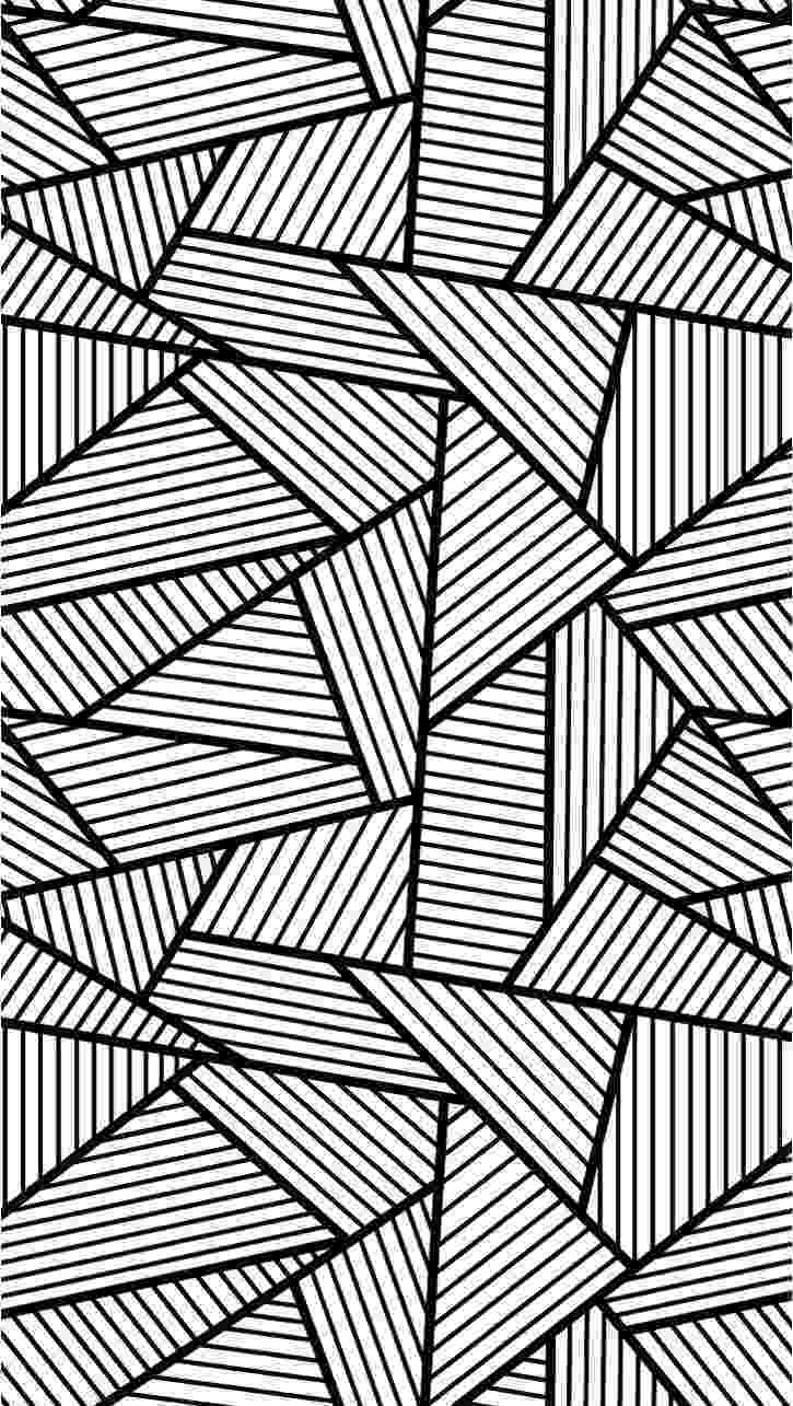 printable coloring pages pattern assembly of triangles and rectangle zen and anti stress printable pages pattern coloring