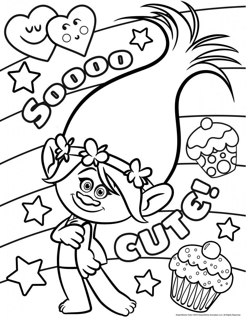 printable coloring pages trolls trolls coloring pages to download and print for free printable trolls pages coloring
