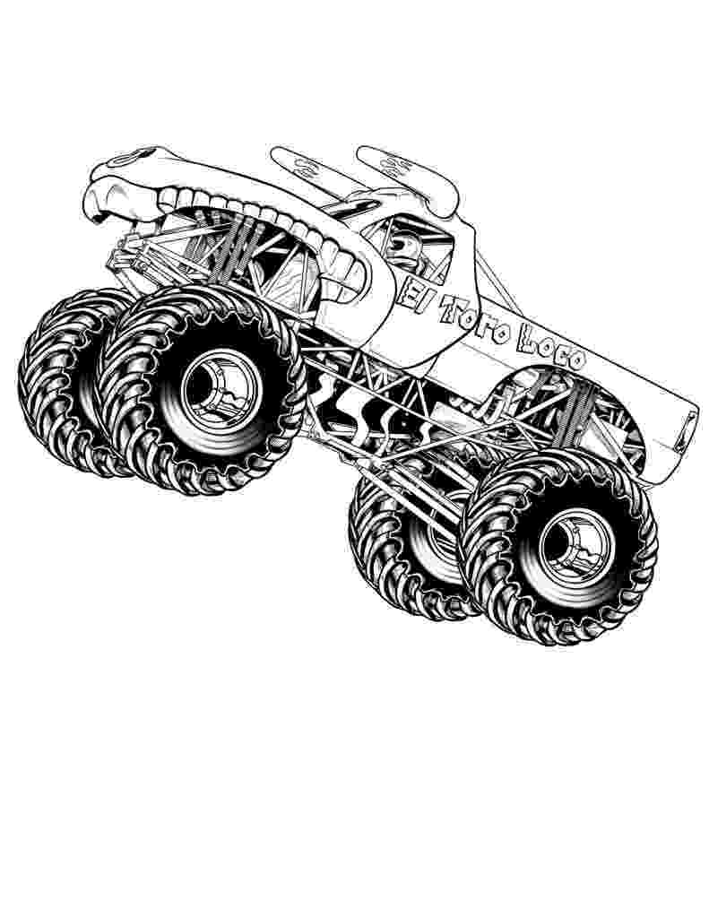 printable coloring pages trucks bigfoot monster truck coloring page free printable pages coloring trucks printable