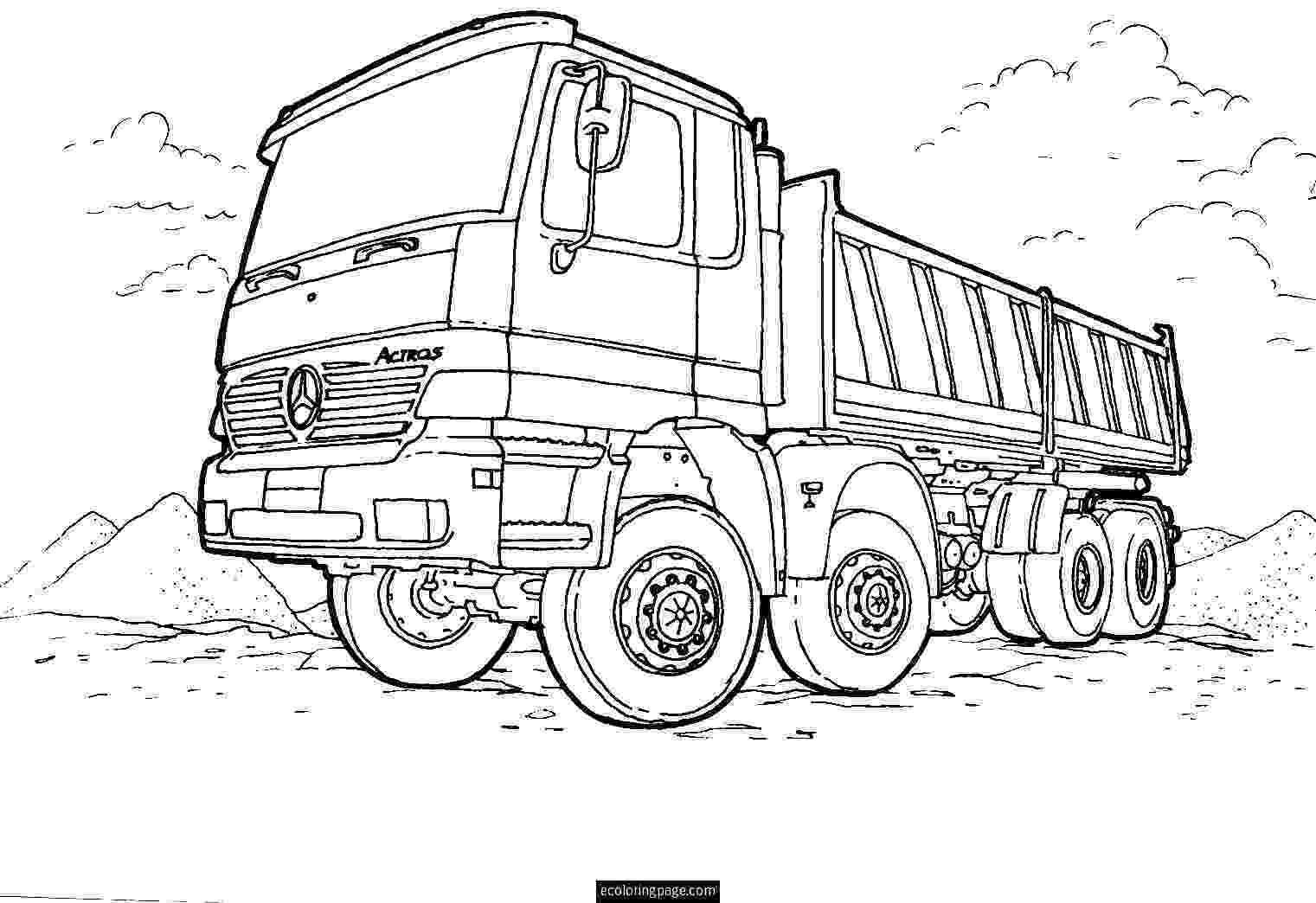 printable coloring pages trucks semi truck coloring pages to download and print for free trucks pages coloring printable